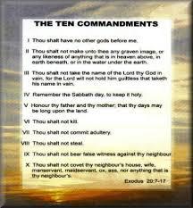The Ten Commandments Exodus 20-7-17
